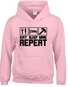 pink Minecraft Hoodie