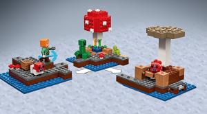 minecraft lego set - mushroom island