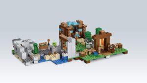 Lego Minecraft rafting box