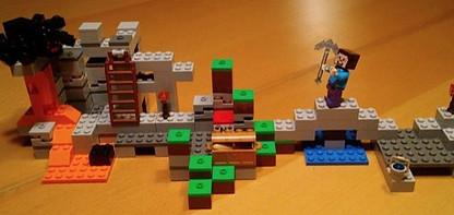 Lego mountain cave